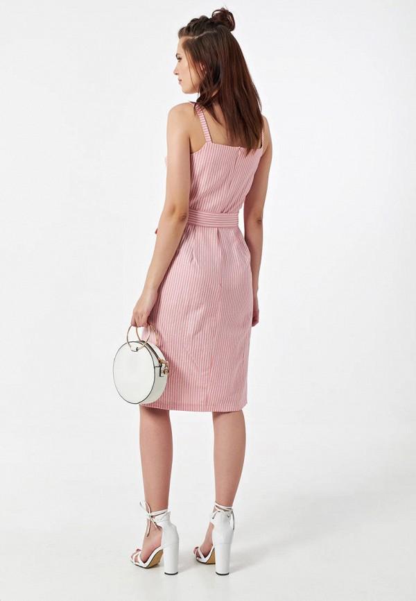Фото 3 - Женское платье Fly розового цвета
