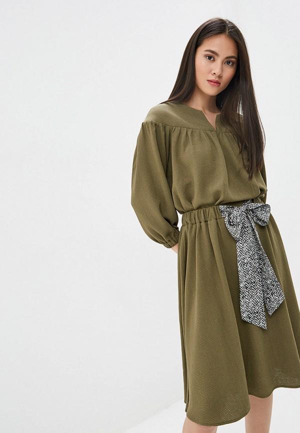 Платье Ruxara цвет хаки