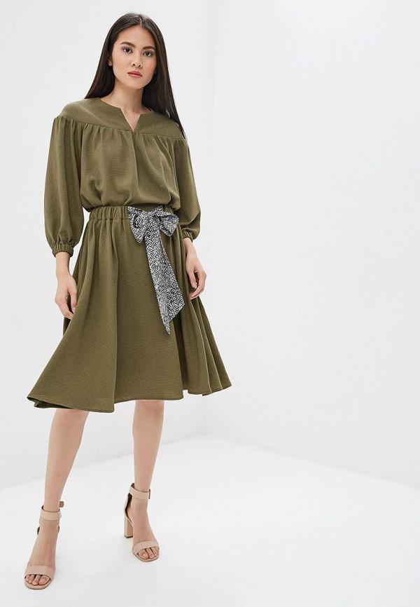 Платье Ruxara цвет хаки  Фото 2
