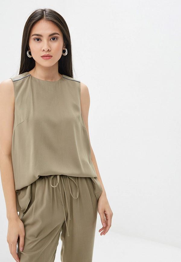 Блуза Ruxara цвет хаки