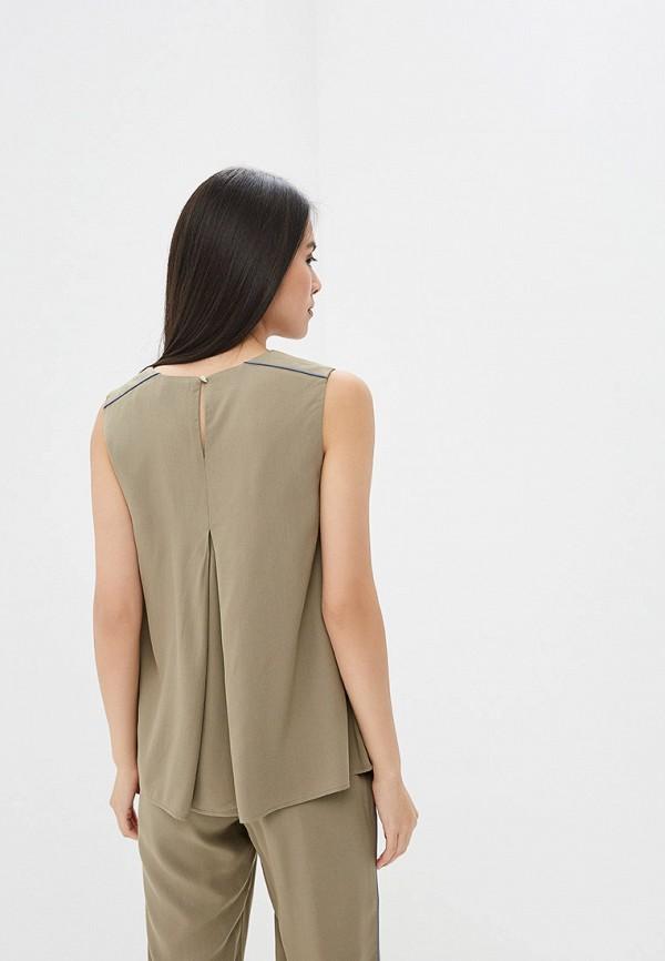 Блуза Ruxara цвет хаки  Фото 3