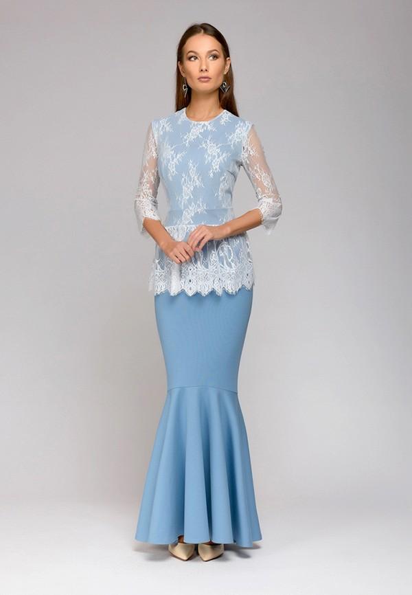 Купить Платье D&M by 1001 dress, mp002xw0e6a9, голубой, Осень-зима 2018/2019