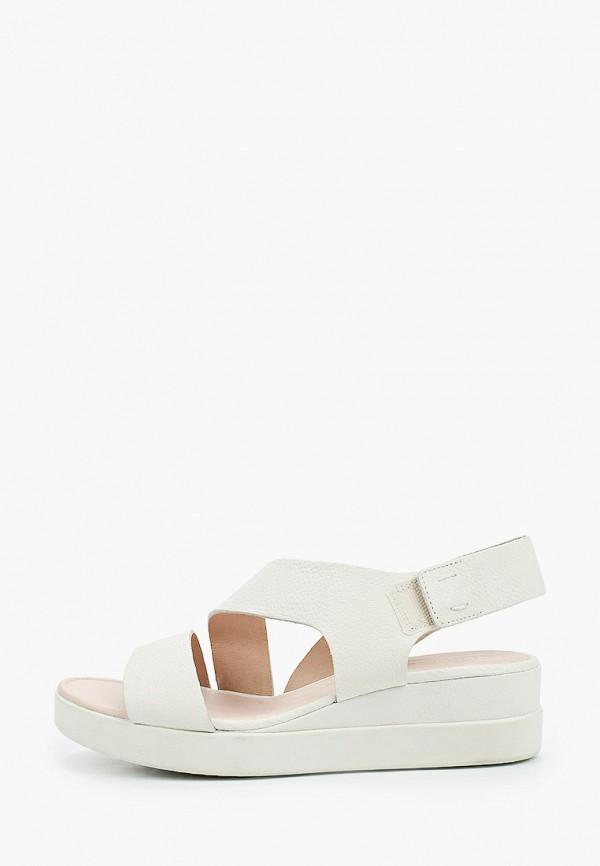 женские сандалии ecco, белые