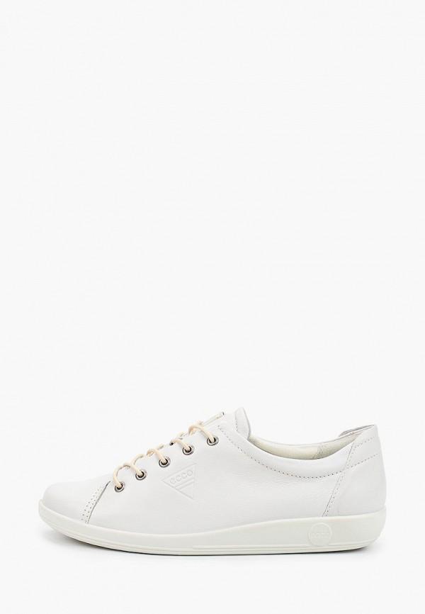 женские низкие кроссовки ecco, белые