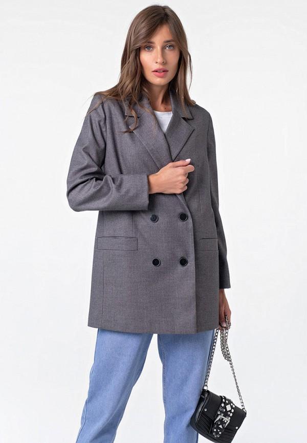женский пиджак fly, серый
