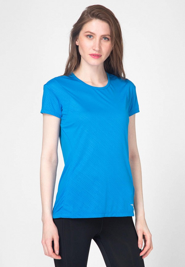 женская спортивные футболка mizuno, голубая