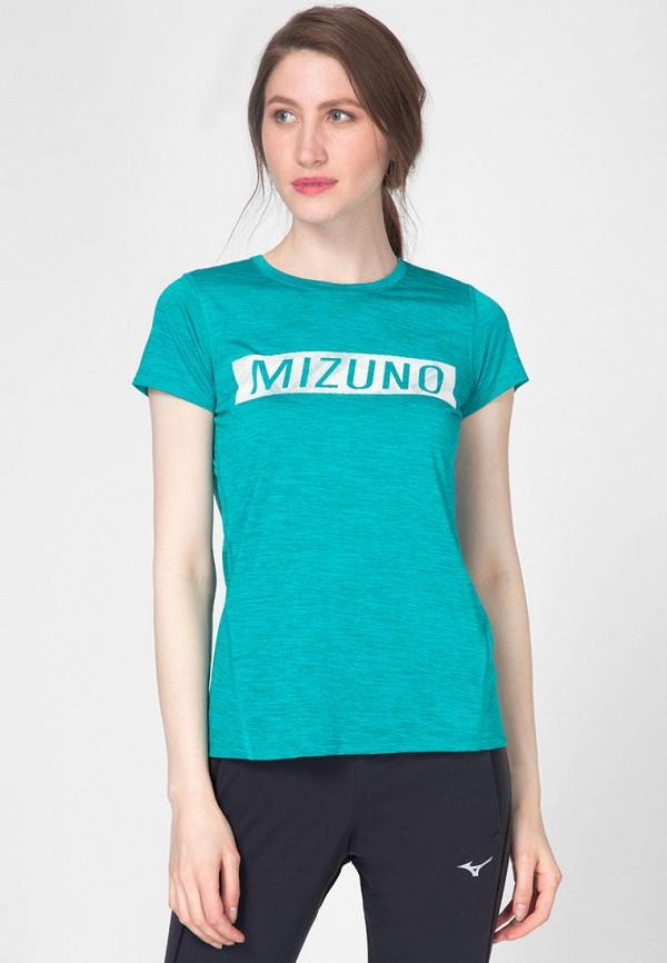 женская спортивные футболка mizuno, бирюзовая