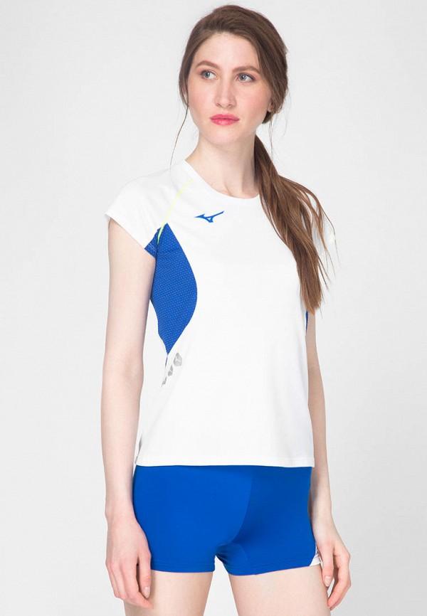 женская спортивные футболка mizuno, белая