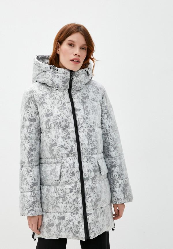 женская утепленные куртка dixi-coat, серебряная