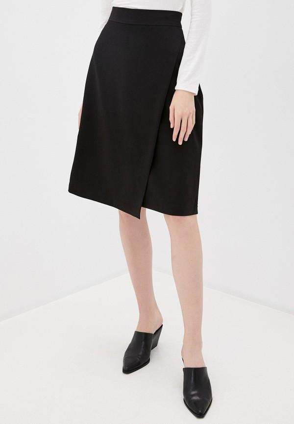 женская юбка-трапеции befree, черная