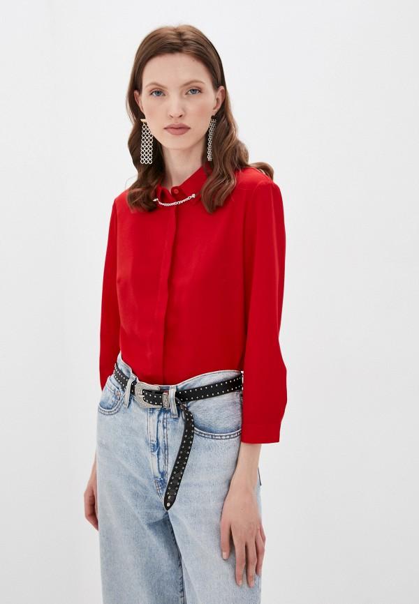 женская блузка с длинным рукавом befree, красная