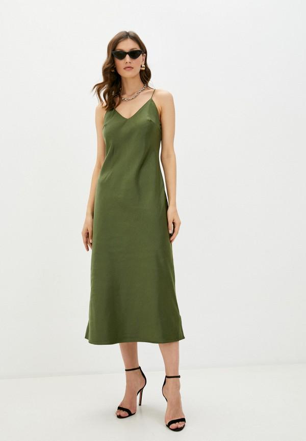 женское платье-комбинация befree, хаки
