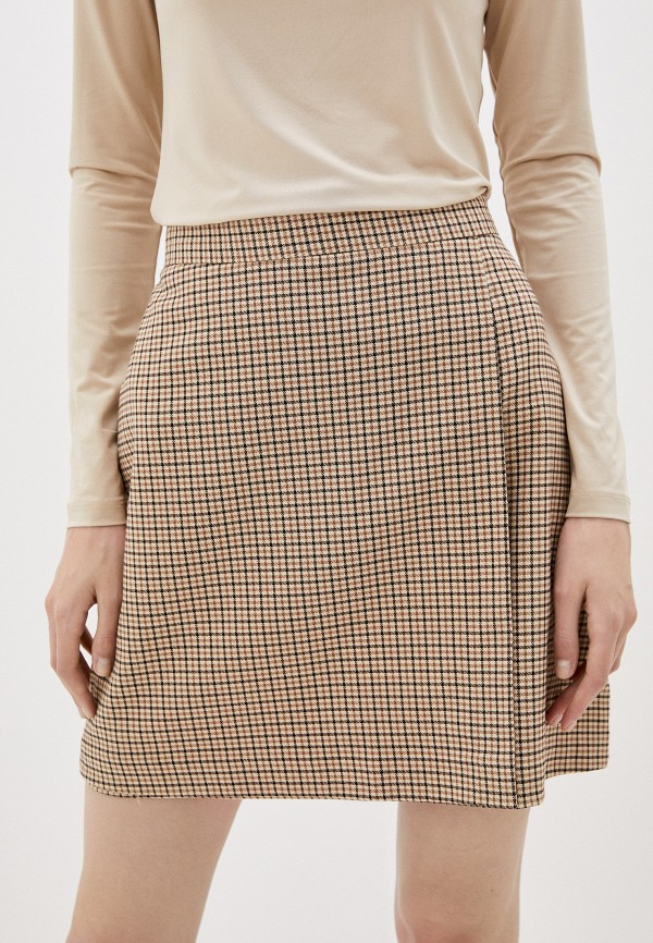 женская юбка-трапеции befree, бежевая