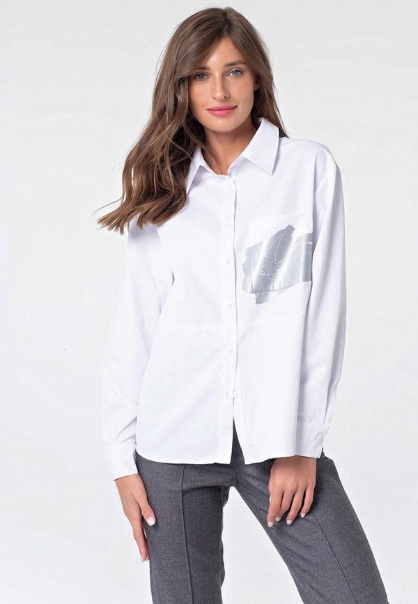 женская рубашка с длинным рукавом fly, белая