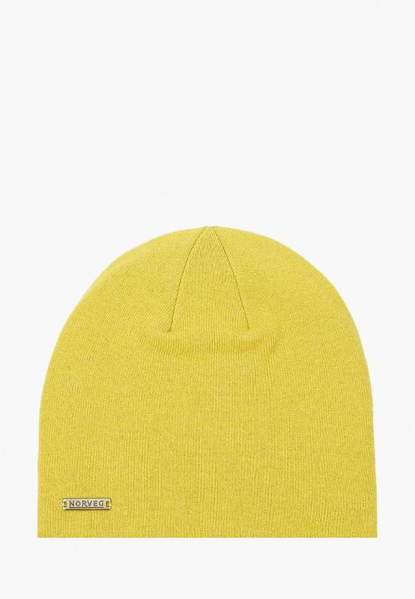 женская шапка norveg, желтая