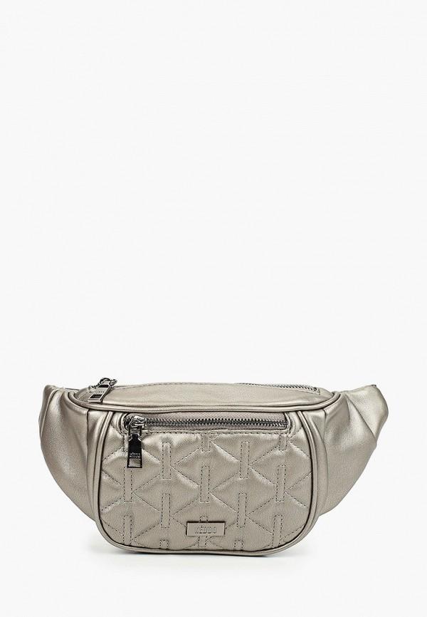 женская поясные сумка keddo, серебряная