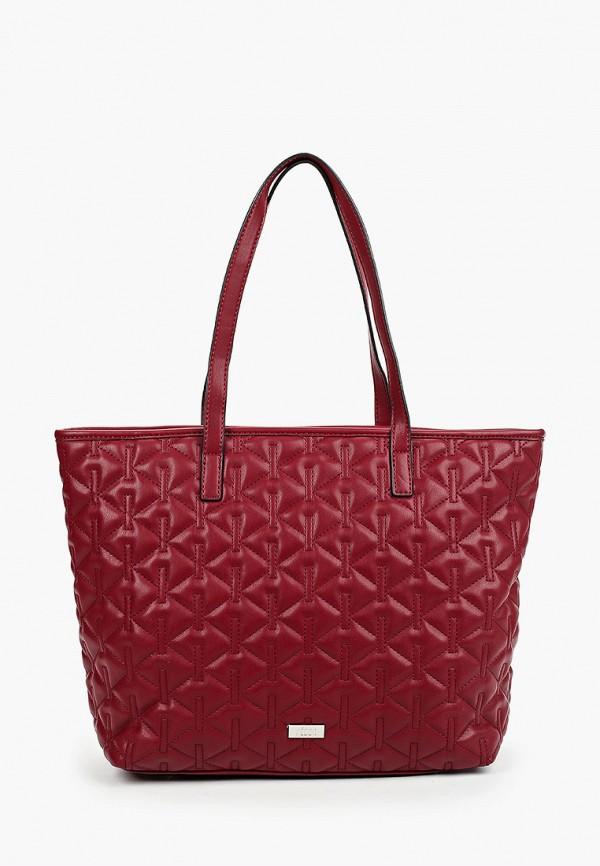 женская сумка-шоперы keddo, бордовая