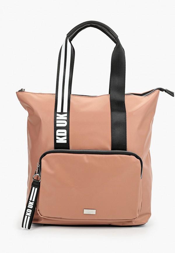 женская сумка через плечо keddo, розовая