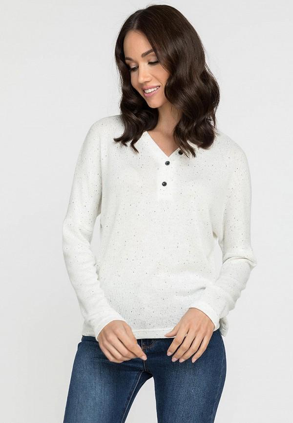 женский пуловер gloss, белый
