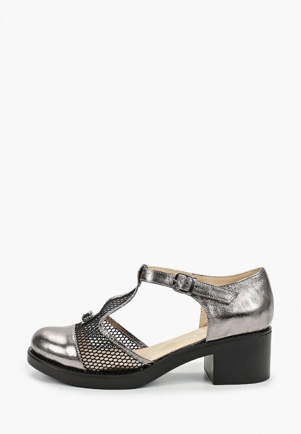 женские туфли ascalini, серебряные