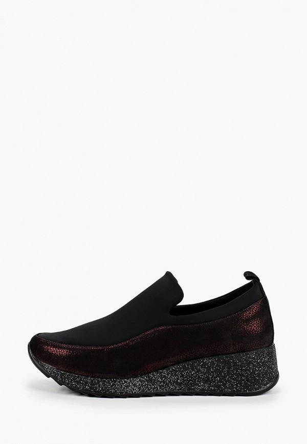 женские низкие кроссовки ascalini, бордовые