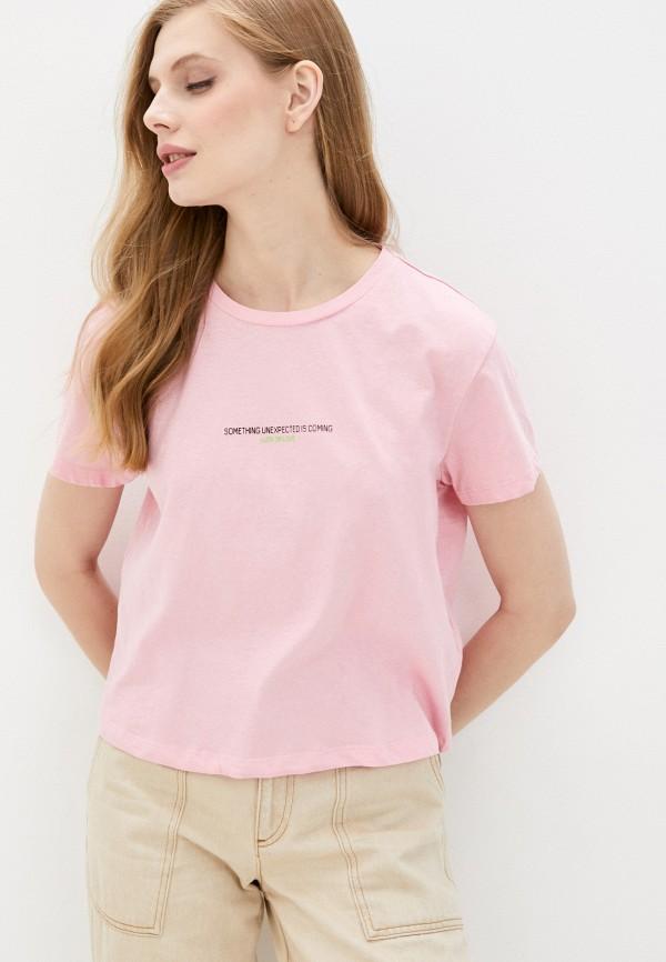 женская футболка colin's, розовая