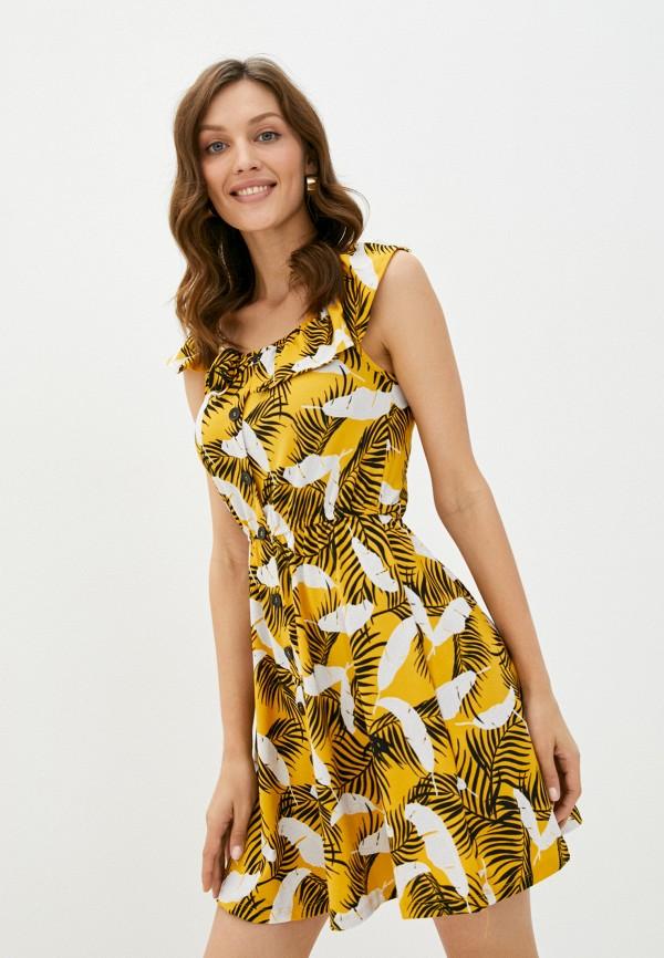 женское повседневные платье colin's, желтое