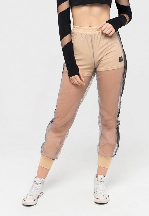 женские спортивные брюки dnk, бежевые