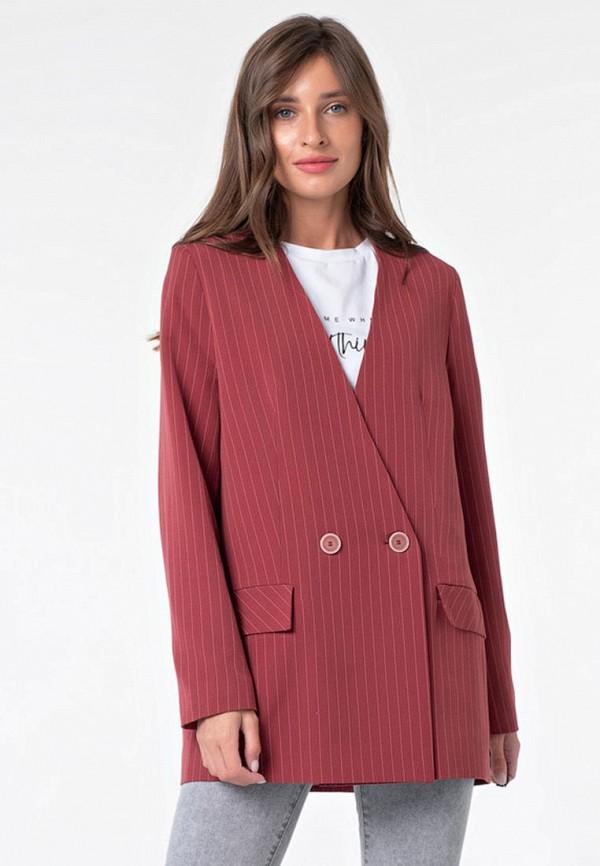 Пиджак Fly бордового цвета
