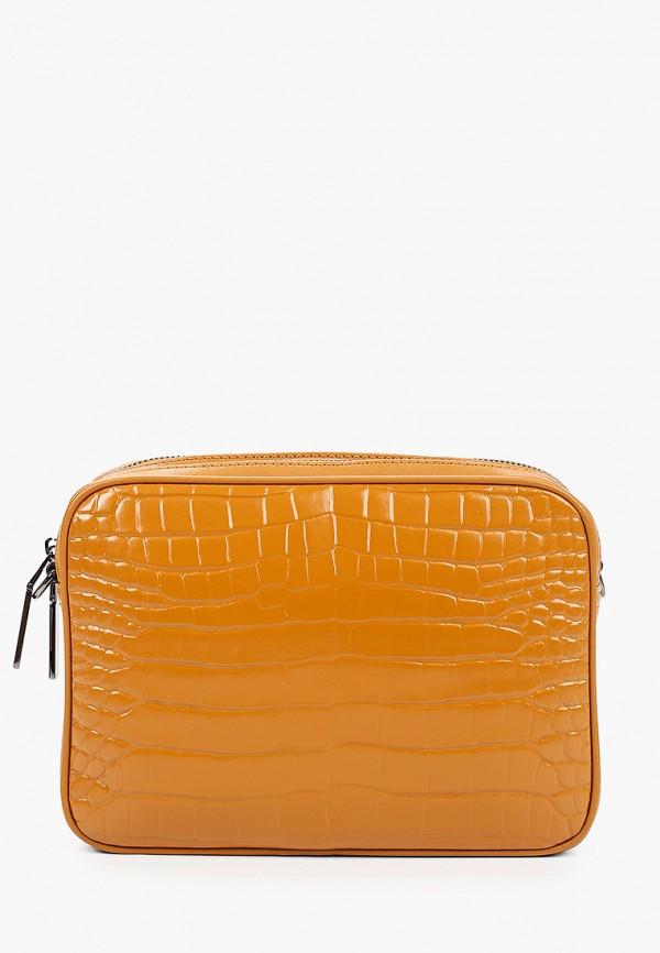 женская сумка через плечо эконика, желтая