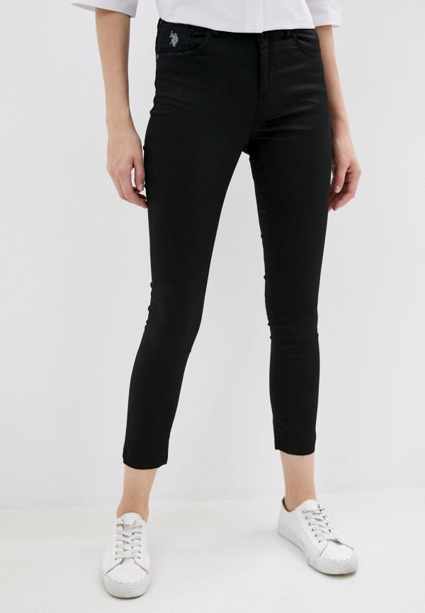 женские повседневные брюки u.s. polo assn, черные