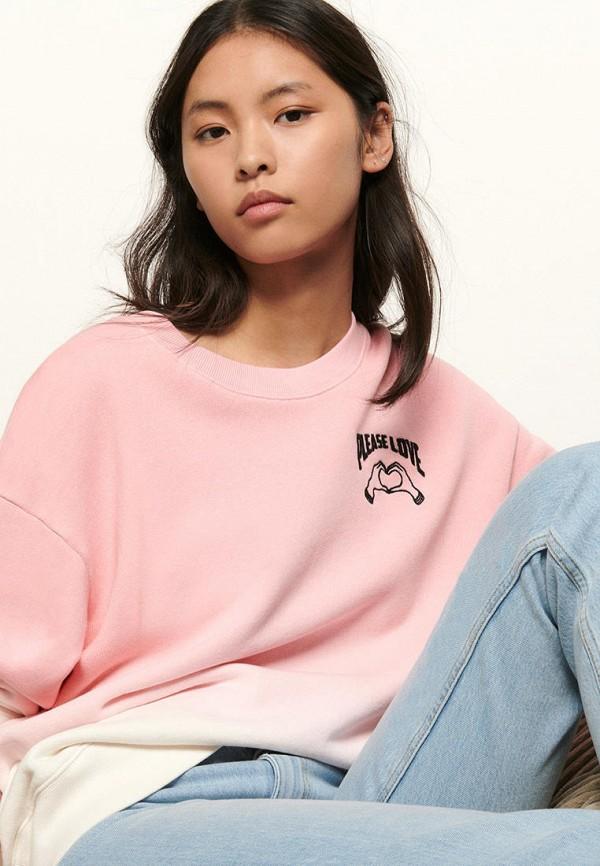 женский свитшот sandro, розовый