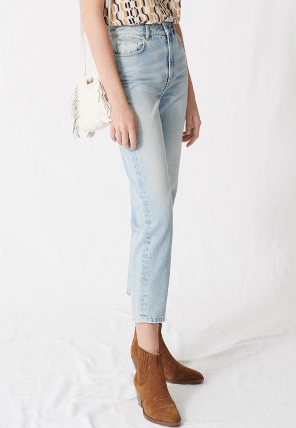 женские джинсы maje, голубые