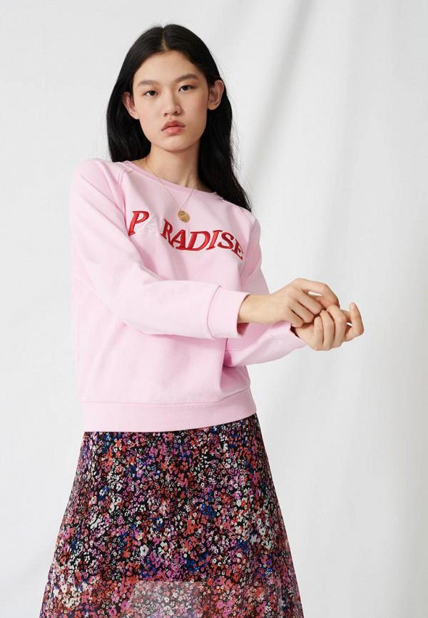 женский свитшот maje, розовый