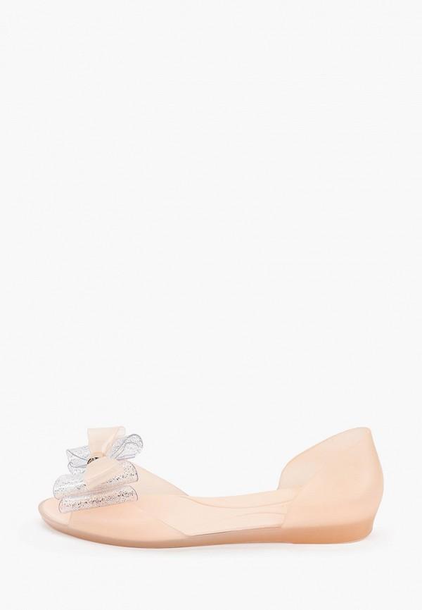 женские балетки с открытым носом marc&andre, розовые