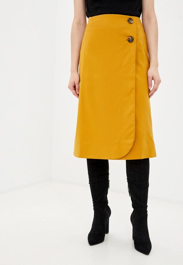 женская юбка-трапеции remix, желтая