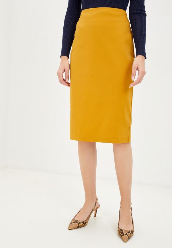 женская узкие юбка remix, желтая