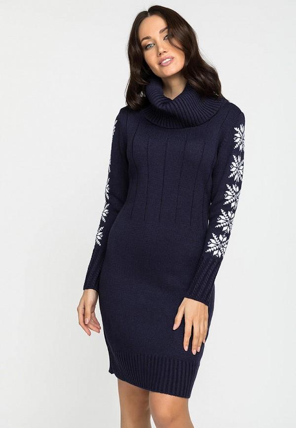 женское платье-свитеры gloss, синее
