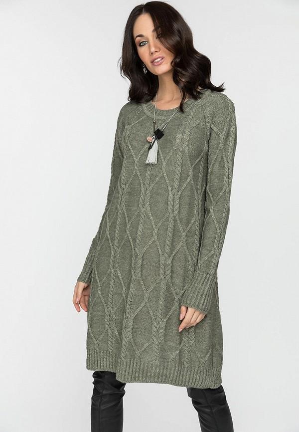 женское платье-свитеры gloss, хаки