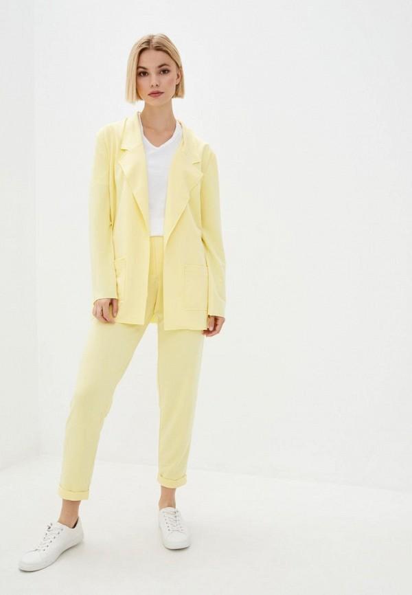 женский костюм ricamare, желтый