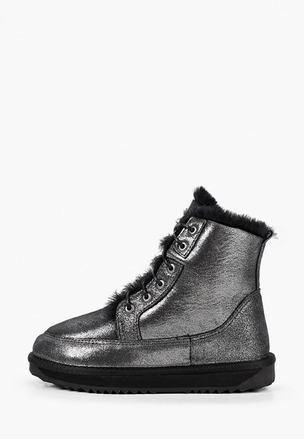 женские высокие ботинки mascotte, серебряные