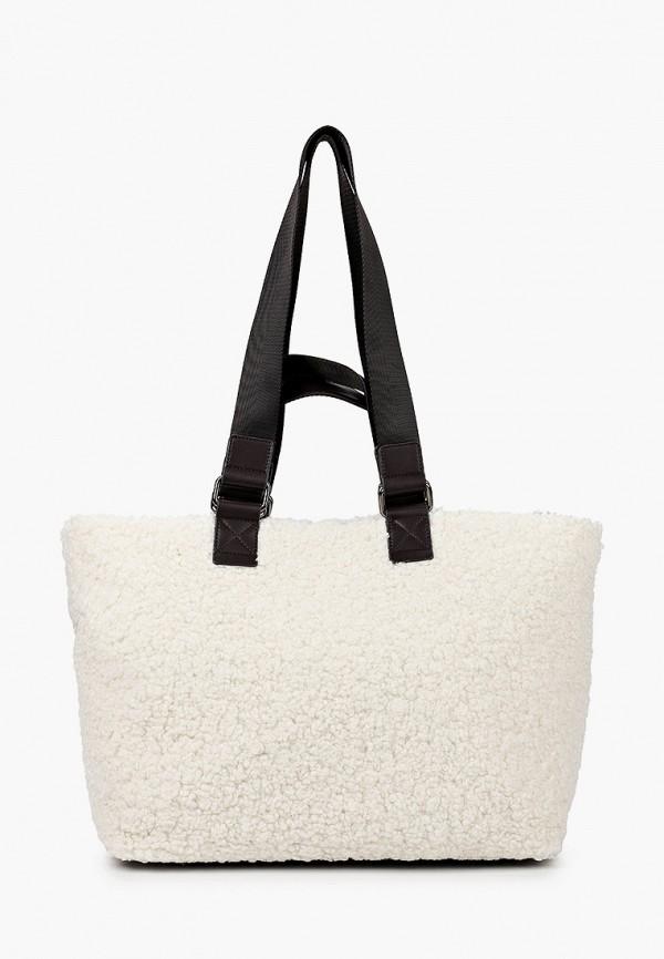 женская сумка-шоперы эконика, белая