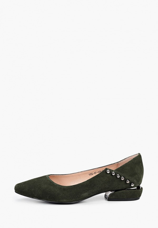 женские туфли с закрытым носом el'rosso, зеленые