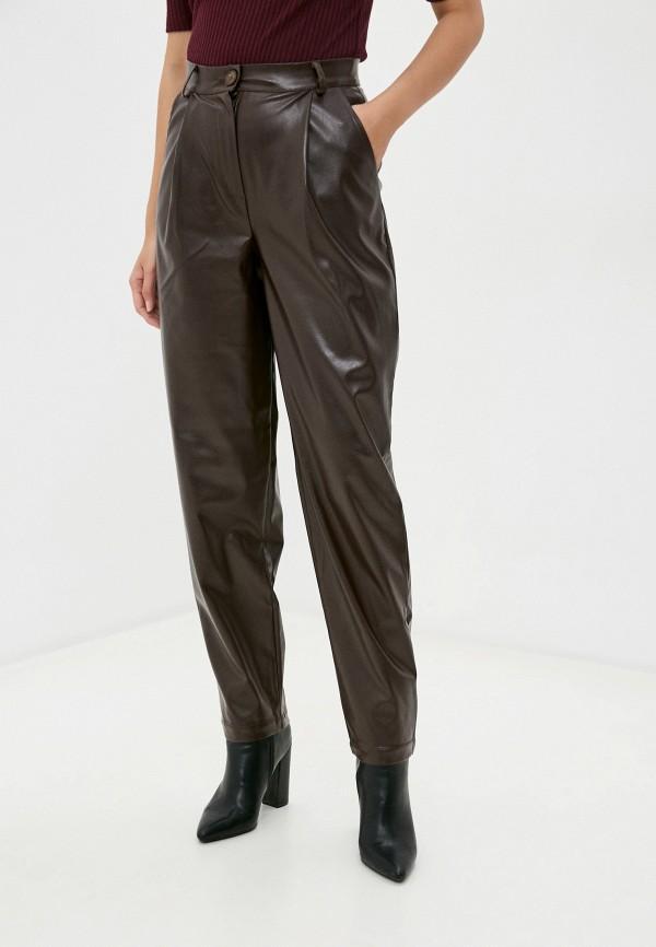 женские кожаные брюки irma dressy, коричневые