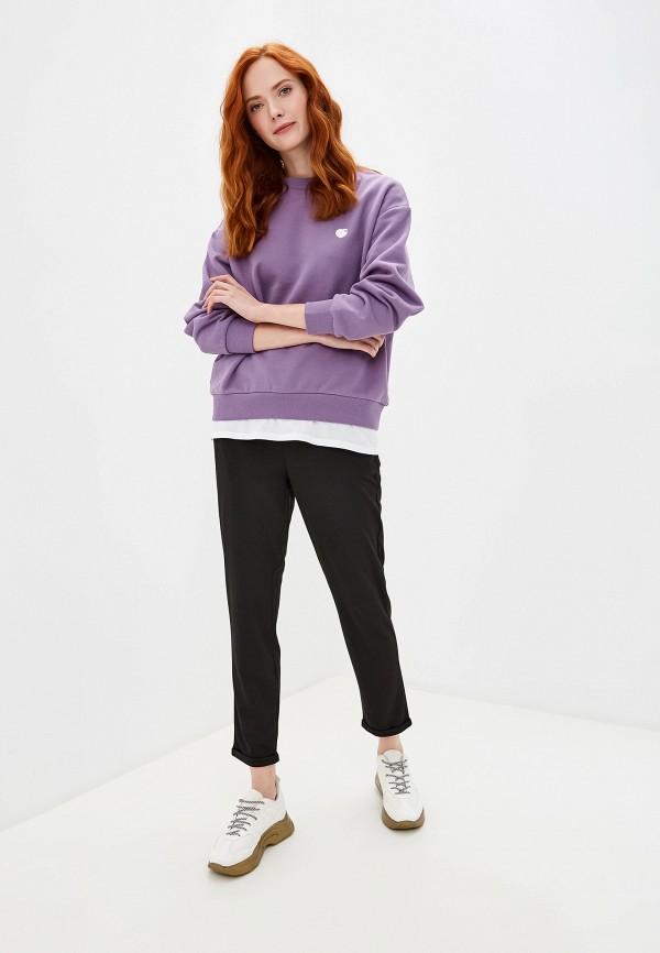 Фото 2 - Женские брюки Befree черного цвета