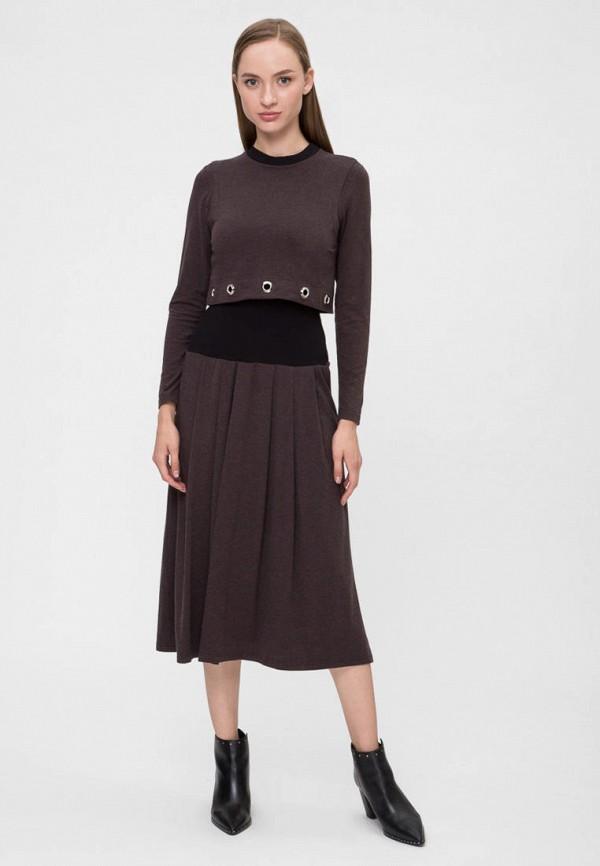женское повседневные платье vergans, коричневое
