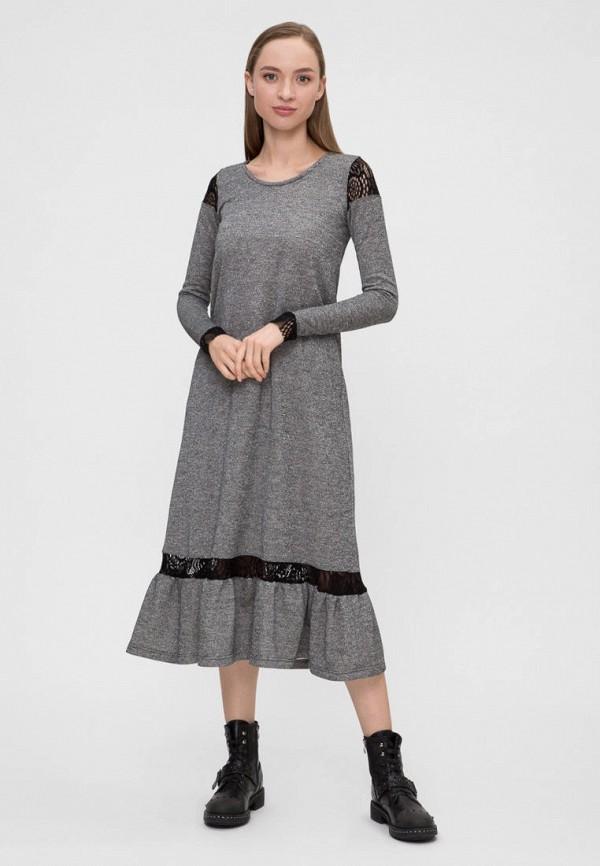 женское платье vergans, серое