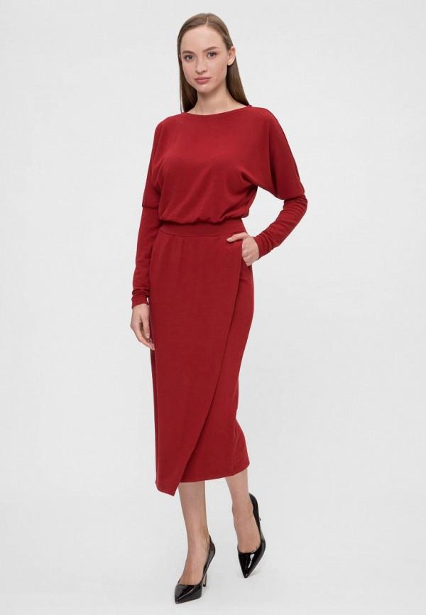 женское вечерние платье vergans, бордовое