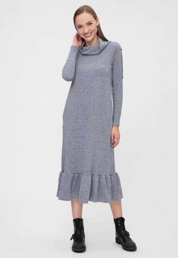 женское повседневные платье vergans, голубое
