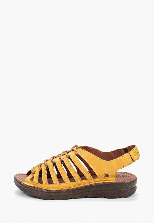 женские сандалии shoiberg, желтые
